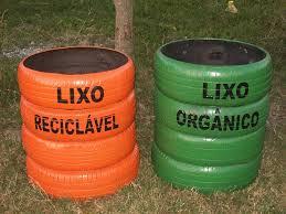 lixeiras recicladas